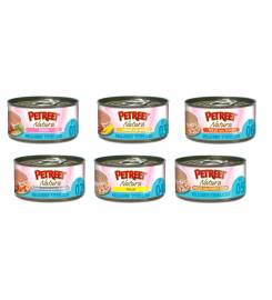 PETREET NATURAL EQUILIBRE STERILIZED PESCE CON PISELLI 80GR