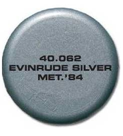 EVINRUDE SPRAY TK PAINT FOR SILVER METALLIC OUTBOARD 84