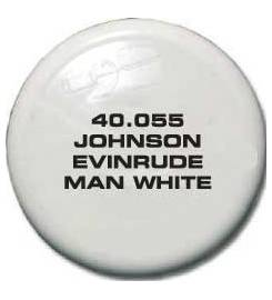 JOHNSON EVINRUDE SPRAY TK PAINT FOR MAN WHITE OUTBOARD