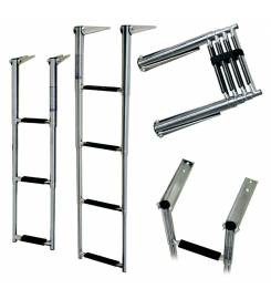 STAINLESS STEEL LADDER SPIRIT SERIES 3 STEPS
