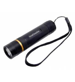 BLACK 3W ALUMINUM LED TORCH