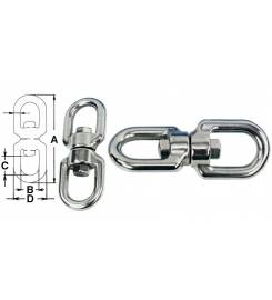 STAINLESS STEEL 316 DOUBLE EYE SWIVELS