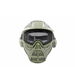 GREEN AIRSOFT MASK WITH NET