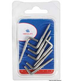 SCREWS INOX WITH SCREW VARIOUS SIZES AVAILABLE