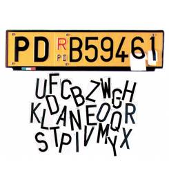 ADHESIVE NUMBERS FOR PLATES