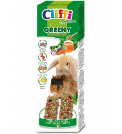 CLIFFI STICKS GREENY FOR RABBITS AND CAVES 110GR