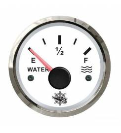 WATER LEVEL INDICATOR 240/33 OHM WHITE / GLOSSY OSCULATED