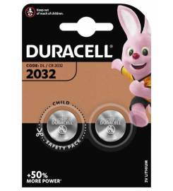 DURACELL 2032 MERCURY FREE 2 PIECES