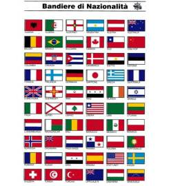 NATIONALITY FLAGS ADHESIVE TABLE
