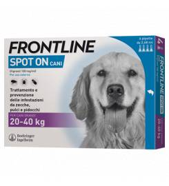 FRONTLINE SPOT ON 4 PIPETTE DOGS 20-40KG