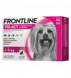 FRONTLINE TRI-ACT FOR DOGS 2-5KG 3 PIPETTES