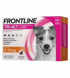 FRONTLINE TRI-ACT FOR DOGS 5-10KG 3 PIPETTES