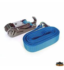 BLUE POLYESTER STRAP WITH STAINLESS STEEL BUCKLE