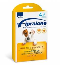 FIPRALONE SPOT ON DOG 4 PIPETTES 2-10KG