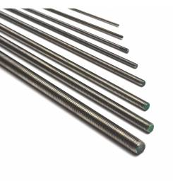 1 METER THREADED BAR IN A2 STAINLESS STEEL
