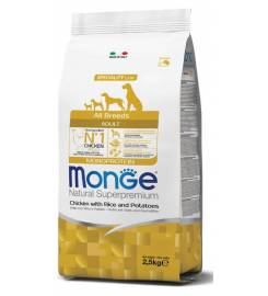 MONGE ADULT CHICKEN RICE AND POTATOES ALL BREEDS