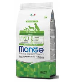 MONGE ADULT RABBIT RICE AND POTATOES ALL BREEDS 2.5kg