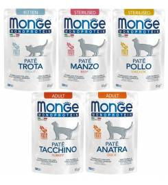 MONGE PATE MONOPROTEIC FOR CATS