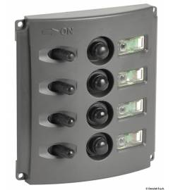 OSCULATI ELECTRIC PANEL AUTOMATIC FUSES DOUBLE LED