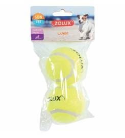 ZOLUX YELLOW BALLS FOR DOGS 2PZ