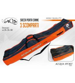 AQS ROD BAG WITH 3 COMPARTMENTS