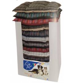 LEOPET BOMBER CUSHION IN FABRIC WITH ASSORTED FANTASIES