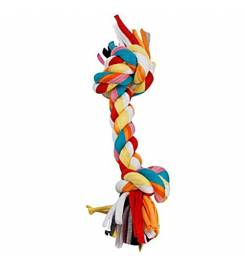 LEOPET KNOT IN MULTICOLOR BRAIDED COTTON