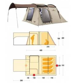 FAMILY KIT TENDA+MATERASSINO