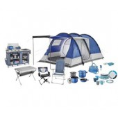 Camping items and accessories: sleeping bags, camping tents